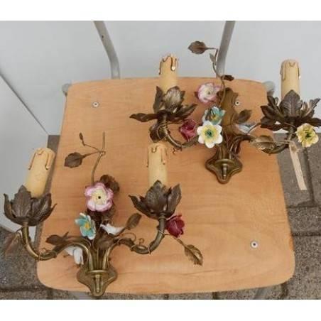 Set wandbloemenlampen