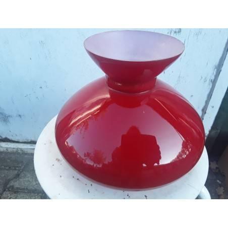 Rode olielamp kap
