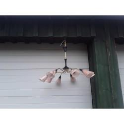 Retro hanglamp met acht...