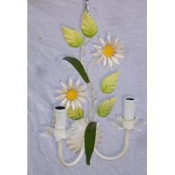 bloemen wandlamp