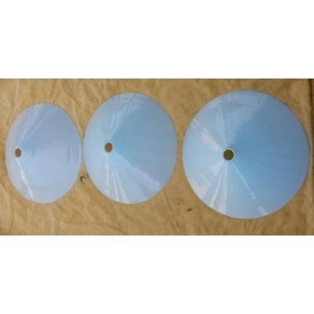set van drie opaline kappen